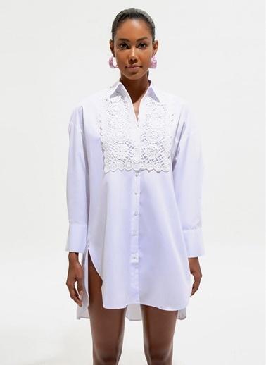 Loves You Plaj Elbisesi Beyaz